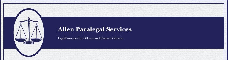 Allen Paralegal Services - Legal Services for Ottawa and Eastern Ontario
